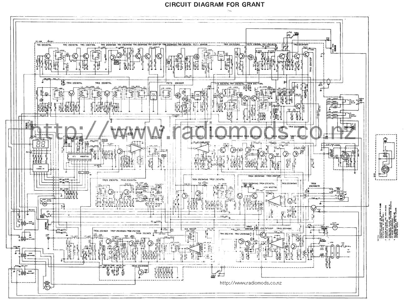 hight resolution of go to the uniden president grant pc409 circuit diagram page
