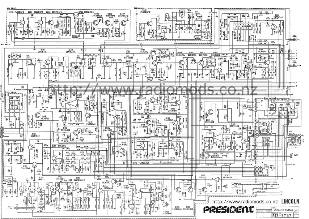 medium resolution of go to the president lincoln main pcb circuit diagram