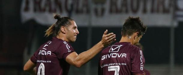 Castiglia-Vuletich, la Salernitana batte la Reggina 2-1