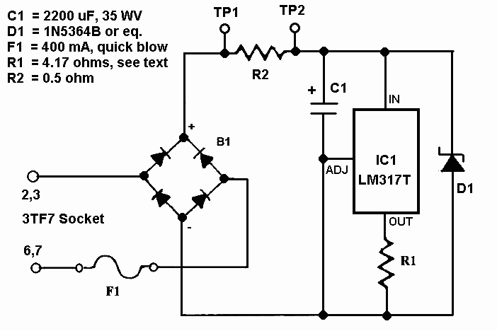lm317t application circuit diagrams 3terminal positive adjustable