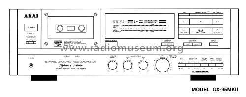 Stereo Cassette Deck GX-95MKII R-Player Akai; Tokyo, build 1