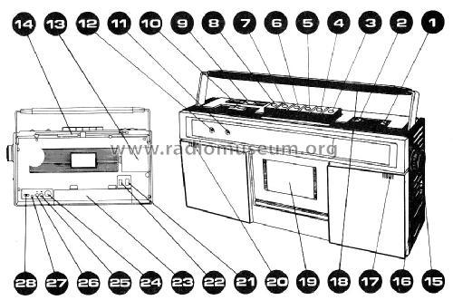 Venturer 3-Band Stereo-Radio-Cassette Recorder Radio ALCO Al