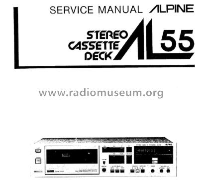 Alpage Stereo Cassette Deck AL-55 R-Player Alpine Electronic