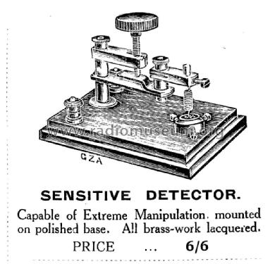 Crystal Detector Radio part Aucklands Wireless, London, buil