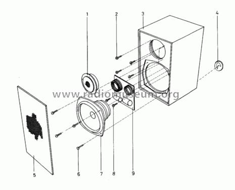 Beovox 1702 6252 Speaker-P Bang & Olufsen B& Struer, build
