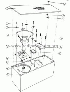 Beovox 2400 6214-12 Speaker-P Bang & Olufsen B& Struer, bu