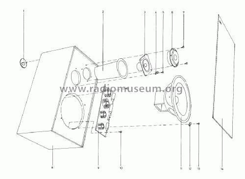 Beovox 3702 6244 Speaker-P Bang & Olufsen B& Struer, build
