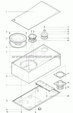 Beovox M 70 6304 Speaker-P Bang & Olufsen B& Struer, build