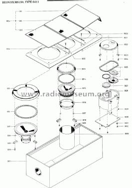 Beovox MS 150 6411 Speaker-P Bang & Olufsen B& Struer, bui