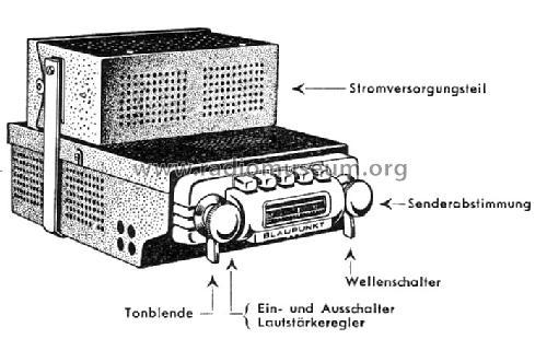 A53KU Car Radio Blaupunkt Ideal, Berlin, später Hildesheim,