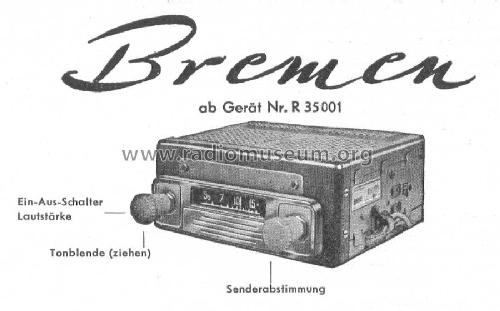 Bremen ab R 35001 Car Radio Blaupunkt Ideal, Berlin, später