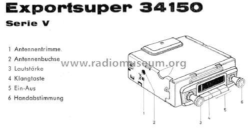 Exportsuper 34150 ab V 460001 Car Radio Blaupunkt Ideal