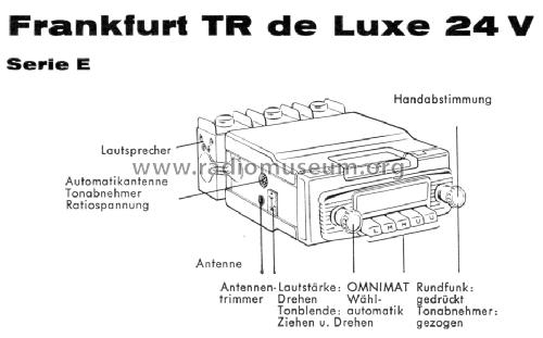 Frankfurt TR de Luxe 24V ab E 796001 Car Radio Blaupunkt Ide