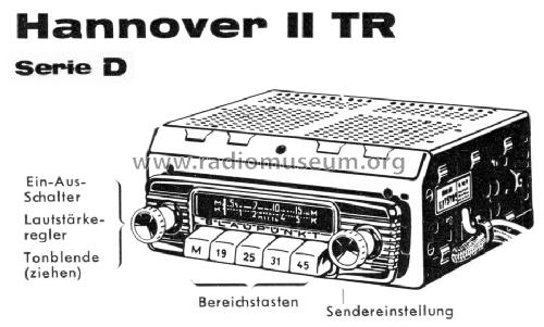 Hannover II TR D 532001 Car Radio Blaupunkt Ideal, Berlin, s