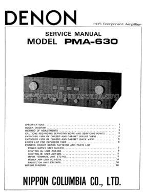Stereo Integrated Amplifier PMA-630 Ampl/Mixer Denon Marke