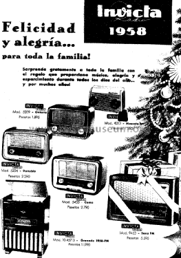 Sena FM 9453 Radio Invicta Radio, Barcelona, build 1958, 1 p
