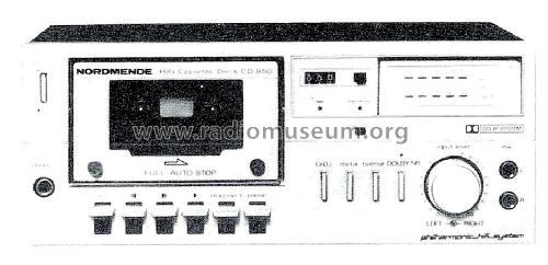HiFi Cassette Deck CD950 981.133H R-Player Nordmende,