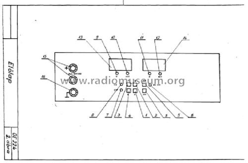 Stab. DC Power Supply OE-224 Equipment Orvosi Müszer