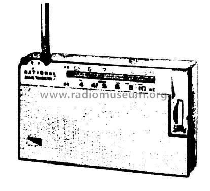 National 2 Band 7 Transistor EA-175 Radio Panasonic,