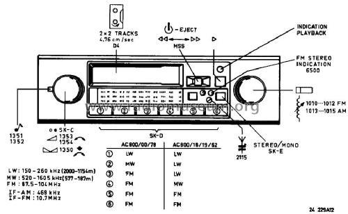 22AC800 /00 Car Radio Philips; Eindhoven tubes international
