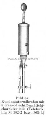 Kondensator-Mikrofon Ela-M303/1 Microphone/PU Telefunken