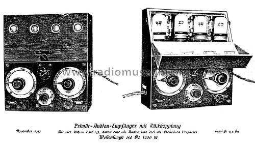 Primär-Audion-Empfänger mit Rückkopplung Receiver-C Telefunk