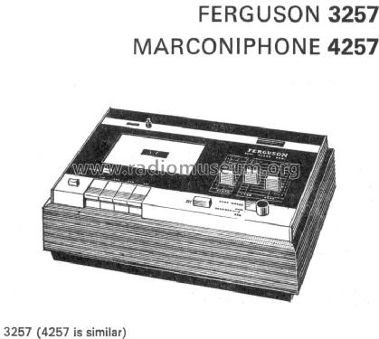 Marconiphone stereo cassette recorder 4257 R-Player Thorn Co