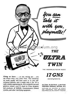 Coronation Twin Deluxe R906 Radio Ultra Electric Ltd.;