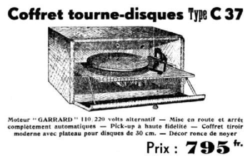 Coffret tourne-disques C37 R-Player Uméca; Dijon, build