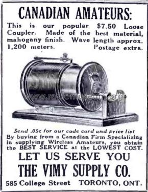 Loose Coupler mod-pre26 VIMY Supply Co., The; Toronto, ONT,