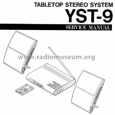 Tabletop Stereo System YST-9 Radio Yamaha Co.; Hamamatsu, bu