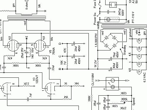AC-12 Ampl/Mixer Ampeg Portaflex, build 1963 ??, 1 schematic