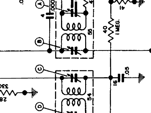7253207 Car Radio Cadillac Div., build 1946, 6 schematics, 6