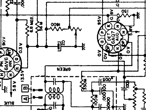 7260405 Car Radio Cadillac Div., build 1951, 1 schematics, 9