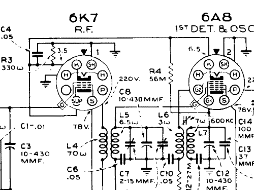 K7M Car Radio Canadian General Electric Canada C.G.E. or CGE