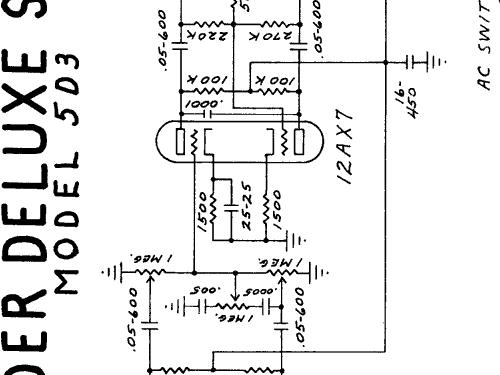 Deluxe Ch= 5D3 Ampl/Mixer Fender Electric Instrument Co.; Fu