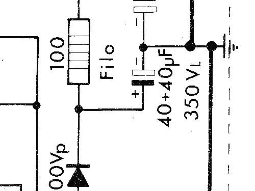 Bahama FV/82 Ampl/Mixer GBC; Milano, build 1967, 1 schematic