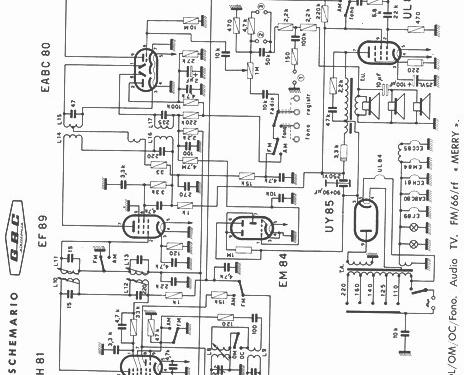 Merry FM66-RF Radio GBC; Milano, build 1964, 1 schematics, 7