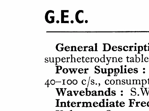 BC5246 Radio GEC, General Electric Co.; London, build