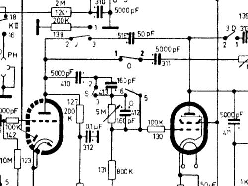 Phono-Vitrine W1648/3D Radio Kaiser KG, W. bzw. Kaiser-Werke