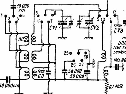 TC404 Radio Lemouzy; Paris, build 1936, 1 schematics, 4 tube