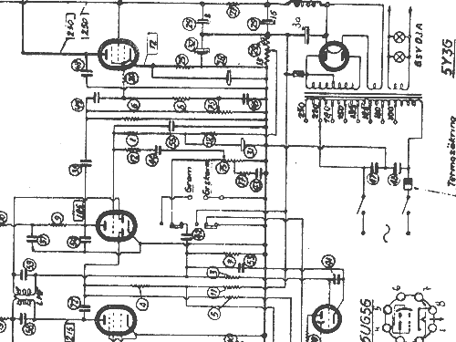 88W Radio Luxor Radio AB; Motala, build 1945 ?, 1 schematics