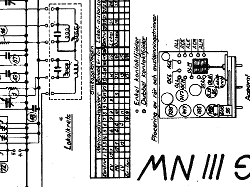 M33W Radio Luxor Radio AB; Motala, build 1945 ?, 1 schematic