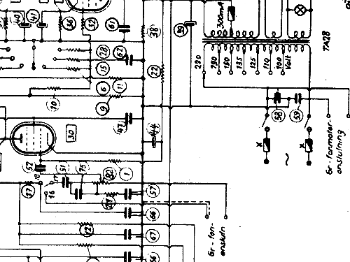M24W Radio Luxor Radio AB; Motala, build 1945 ?, 1 schematic