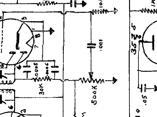 705 Radio Orthon, build 1952 ??, 2 schematics, 6 tubes, Unit