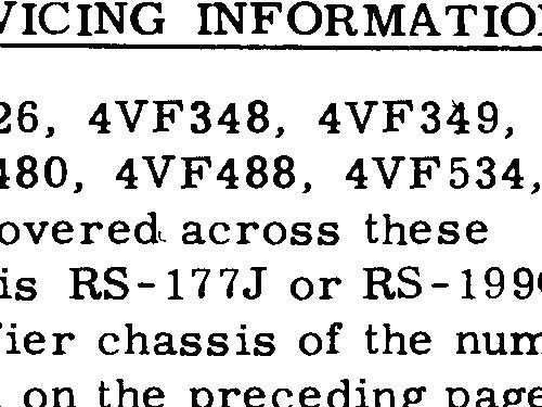 4VF446 Ch= RC-1211A + RS-199C / RS-177J Radio RCA RCA Victor