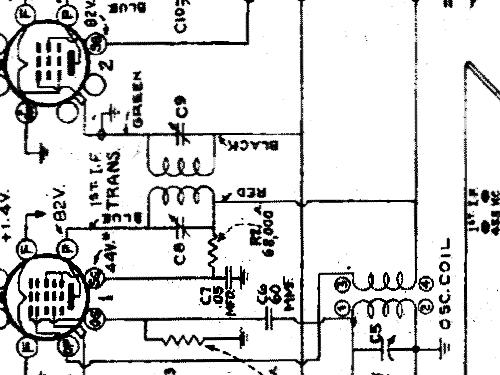 94BP64 Ch= RC-407B (2nd prod.) output 1Q5GT Radio RCA RCA Vi