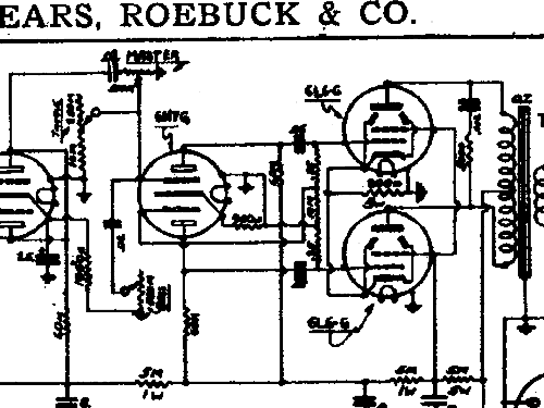 Silvertone 12816 Ch= 138.210 Ampl/Mixer Sears, Roebuck & Co.