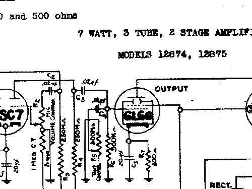 Silvertone 12867 Ch= 138.111 Ampl/Mixer Sears, Roebuck & Co.