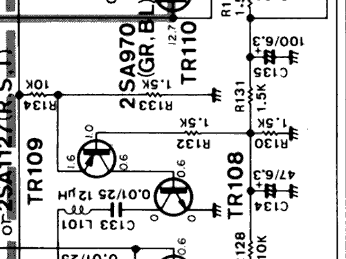 T-7000 Radio Yamaha Co.; Hamamatsu, build 1980 ??, 4 schemat